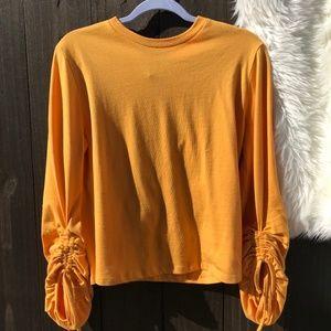 ASOS Oversized Ruched Drawstring-Sleeve Sweatshirt